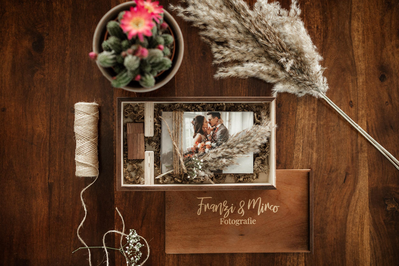 Wedding Box, Holzbox, Hochzeitsreportage